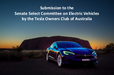 TOCA have made a submission to the Senate Select Committee on Electric Vehicles.