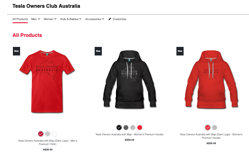 There are some discounts coming up on our Tesla Owners Club of Australia store.
